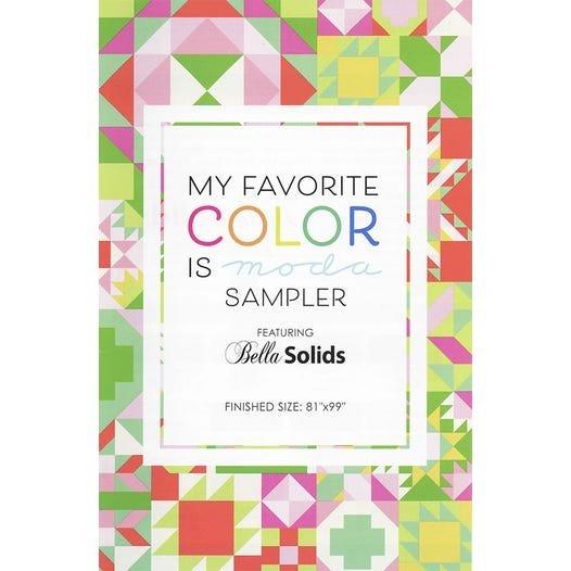 Q - My Favorite Color is Moda Quilt Kit - Primrose Garden