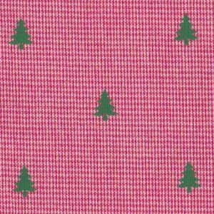 Fabric Finders trees on red microcheck # 2092