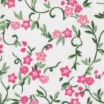 FF Pink Floral on White Background  2318