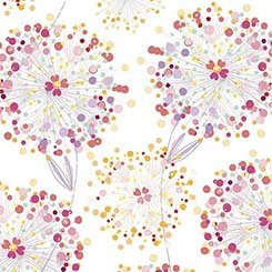 Q - Quilting Treasures - Confetti Blossoms - White