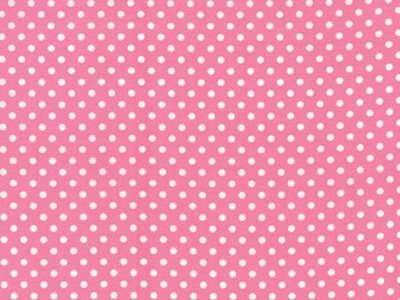 Q - 45 Dottie - Pink with White Dots