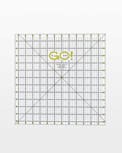 GO! Quilting Ruler-12 1/2 x 12 1/2