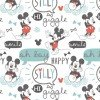 Mickey Mouse- Camelot fabrics- White -Oh Boy