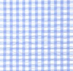 Fabric Finders Seersucker blue check WS/W02 ,60wide  100% cotton