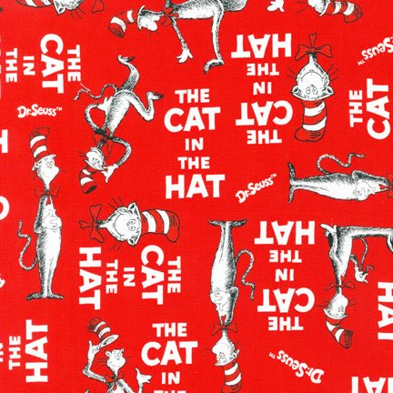 The cat in the hat red, Robert Kaufman, ADE-10796-3 red