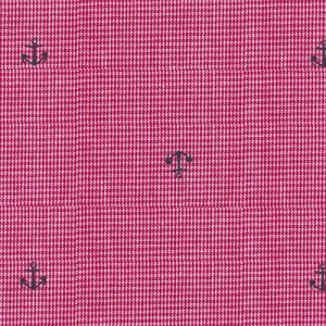 Fabric Finders anchors on red microcheck 2112