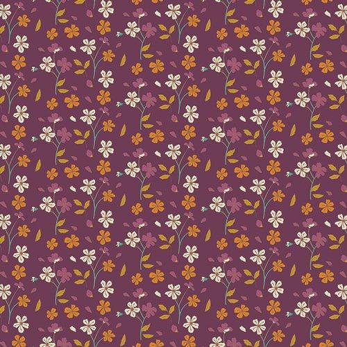 Art Gallery Fabrics, Autumn Vibes,ATV-87201 Cozy Ditzy Plum