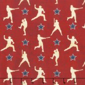 Q - 7th Inning Stretch - Player Silhouettes - Red