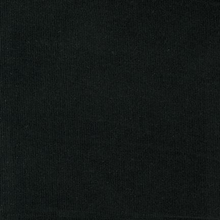 Corduroy 21 Wale BLACK 100% COTTON