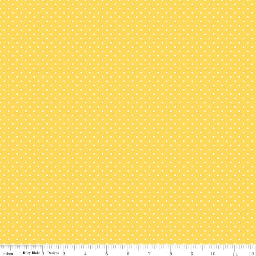 Riley Blake  Swis Dots  Yellow