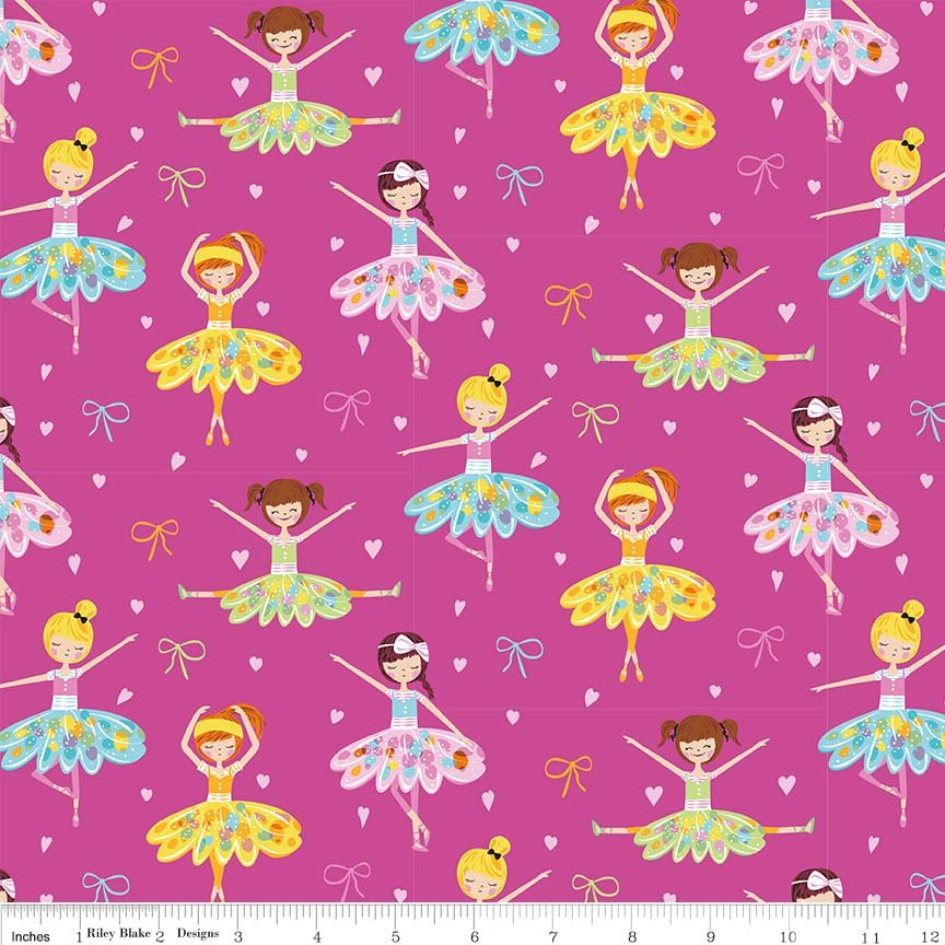 Ballerina bows Pink, C6950
