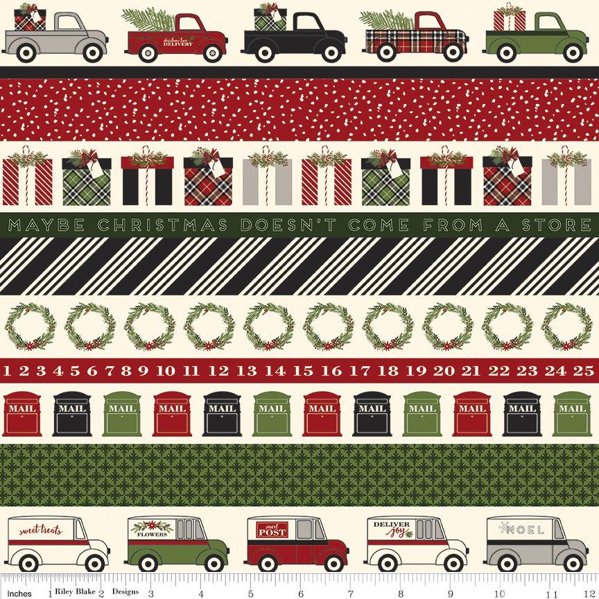 Riley Blake Christmas Delivery,C7337-black stripe
