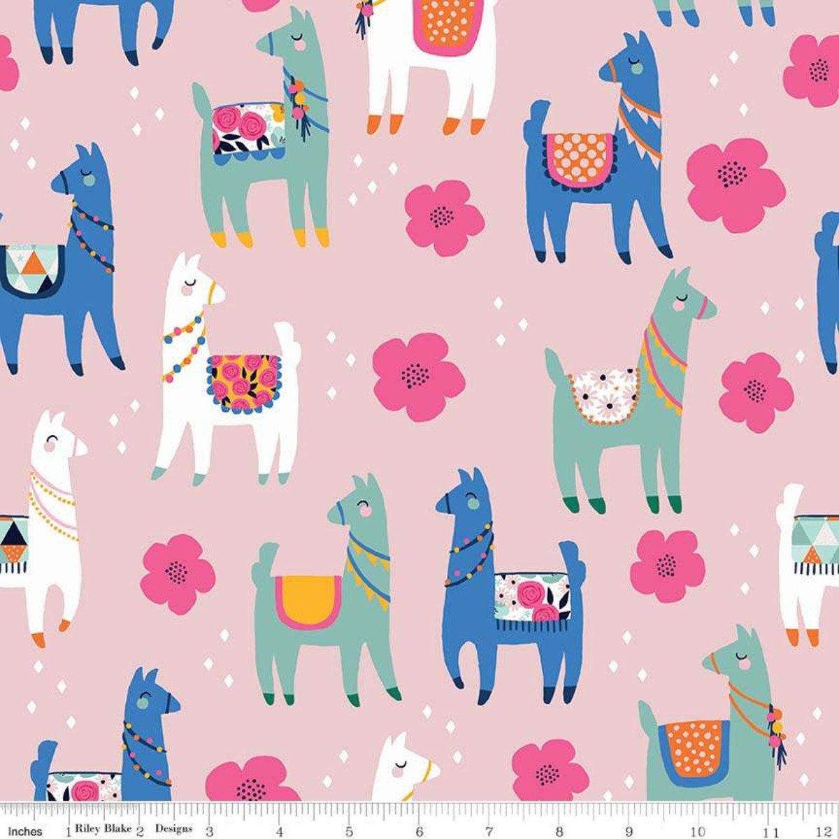 Novelty Llamas Pink, C9009