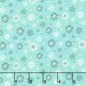 Q - Camelot Fabric - Oh What Fun! - Snowflakes