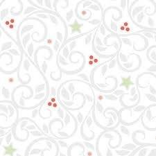 Q - CHRISTMAS MAGIC - Swirls - Silver By Amanda Murphy