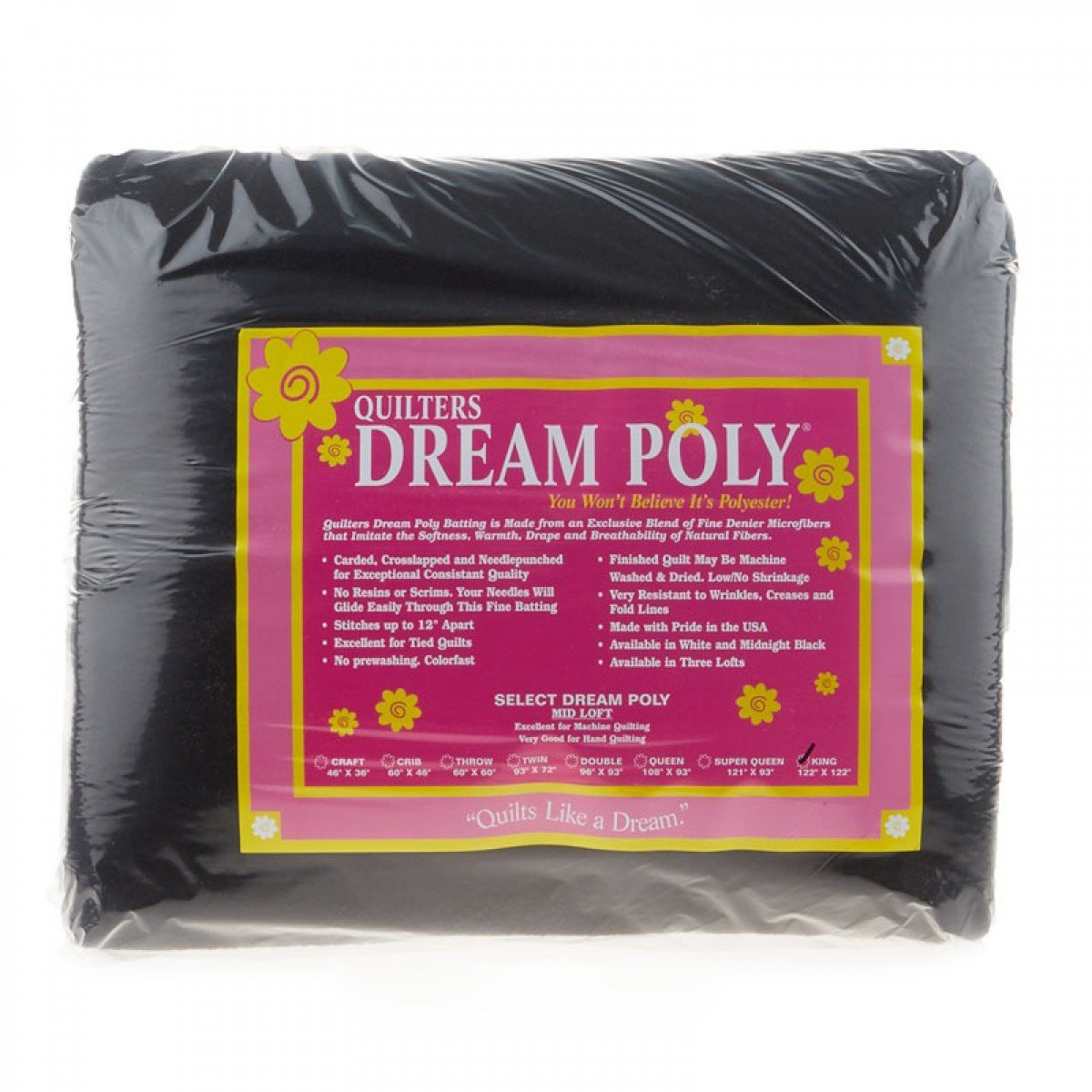 Quilters Dream Polyester Black Select Double 96x93