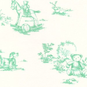 Fabric Finders Green & White Toile Twill