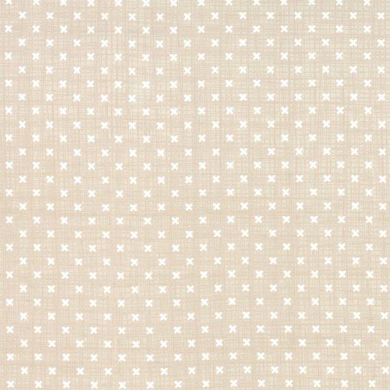 Q - Moda - Lullaby - Tan with White Stitches