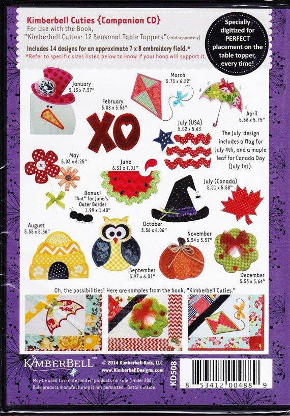 Kimberbell Cuties 12 Seasonal Machine embridery CD