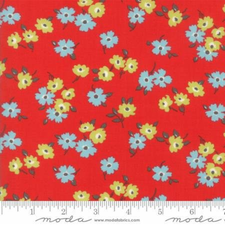 Q - Moda - Sunday Drive Prints - Cherry with Floral