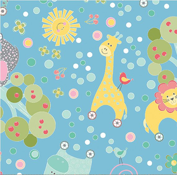 Q - My Little Sunshine - Blue with Animals