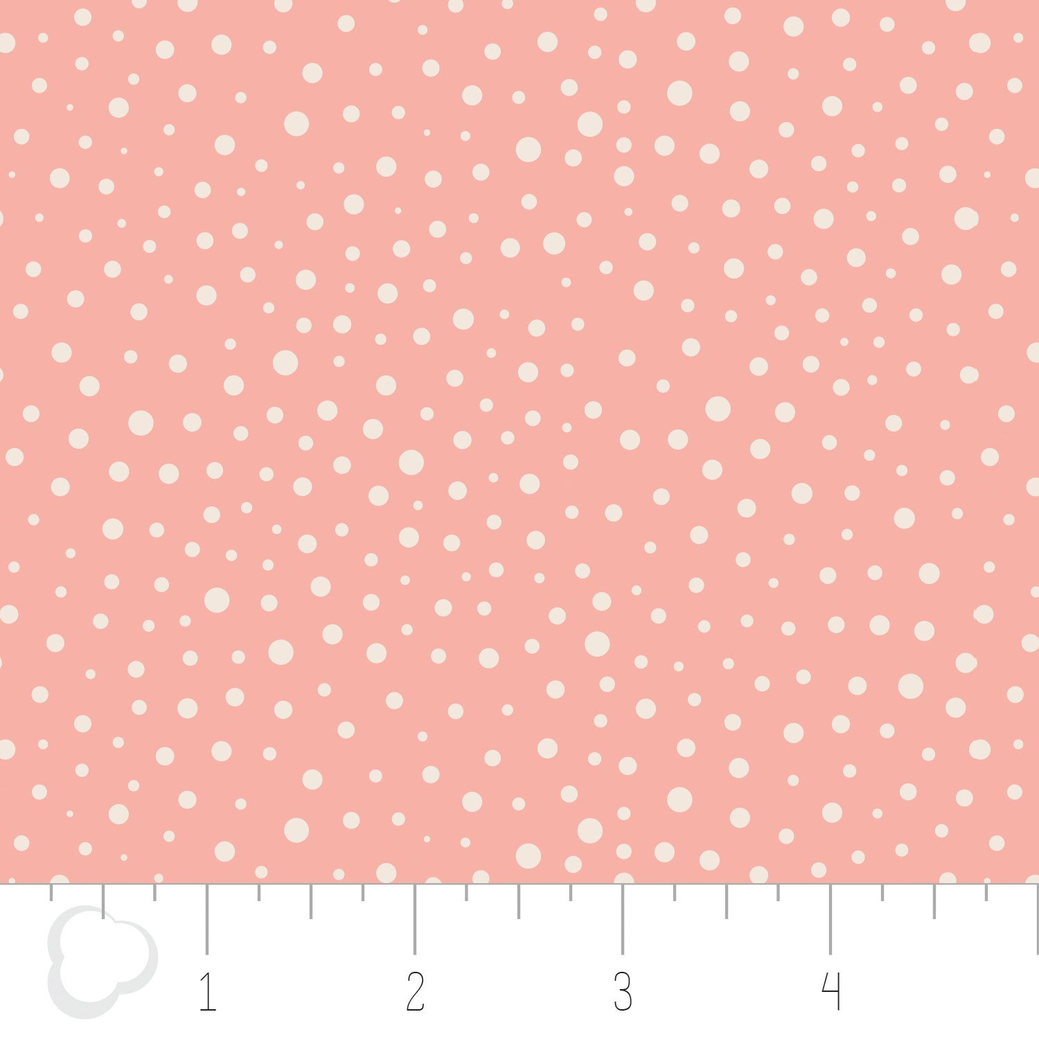 Q - Camelot Fabric - Mixology - Peach with Dots