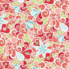 Q - CHRISTMAS MAGIC - Floral - Red By Amanda Murphy