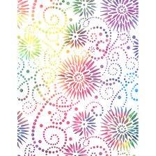 Q - Flower Burst 108 - White Multi by Wilmington Prints