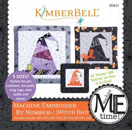 Witch Hat Machine Embroider by number, KimberBell
