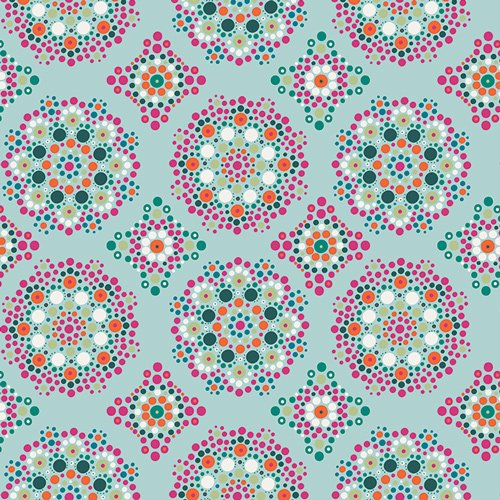 Art Gallery-- Love to Pieces- Mandala Drops Iris