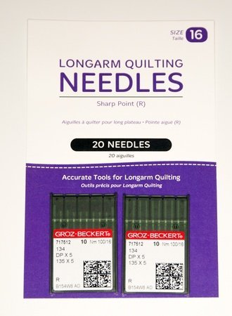 Longarm Quilting Needles Sharp Point (R) size 16