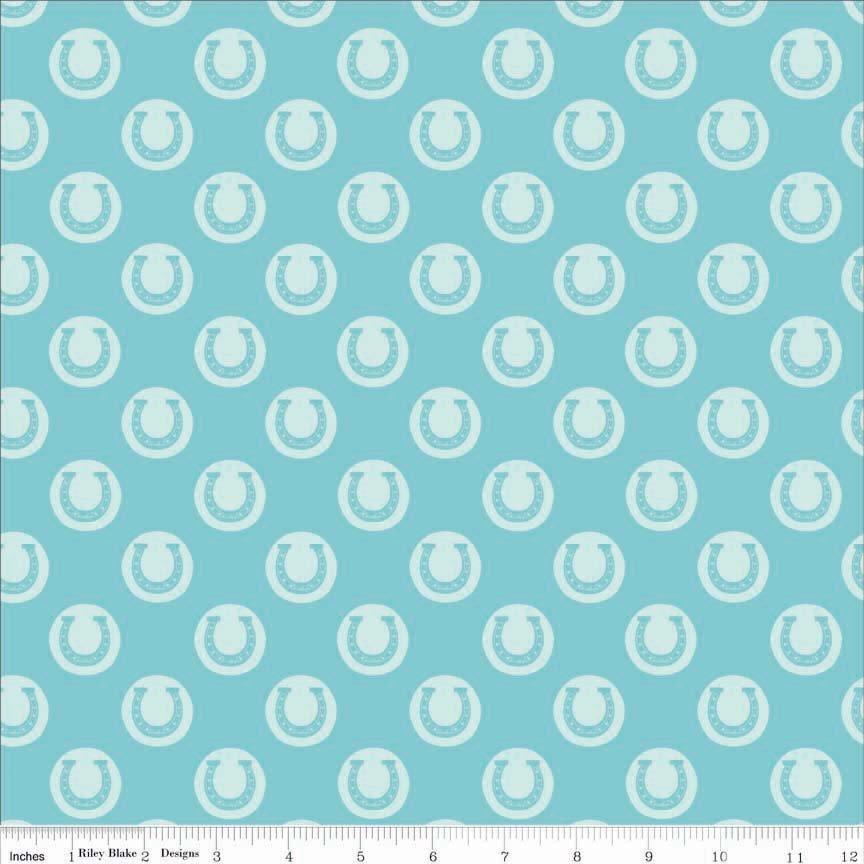 Riley Blake Derby Style by Melissa Mortenson C4421 Aqua - Luck