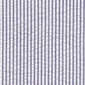 Fabric Finders Seersucker navy stripe ,60wide  100% cotton