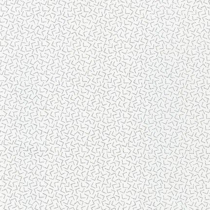 Q -  Whisper Metallics - BLANC by Robert Kaufman