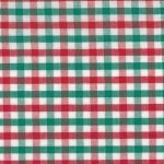 Fabric Finders T-11,red white and green tricheck