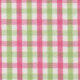 Fabric Finders  Pink & Green Tattersall Check T-27