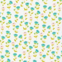 Buttercup Turquoise - Cloud 9 Fabrics - Vignette Collection - Organic