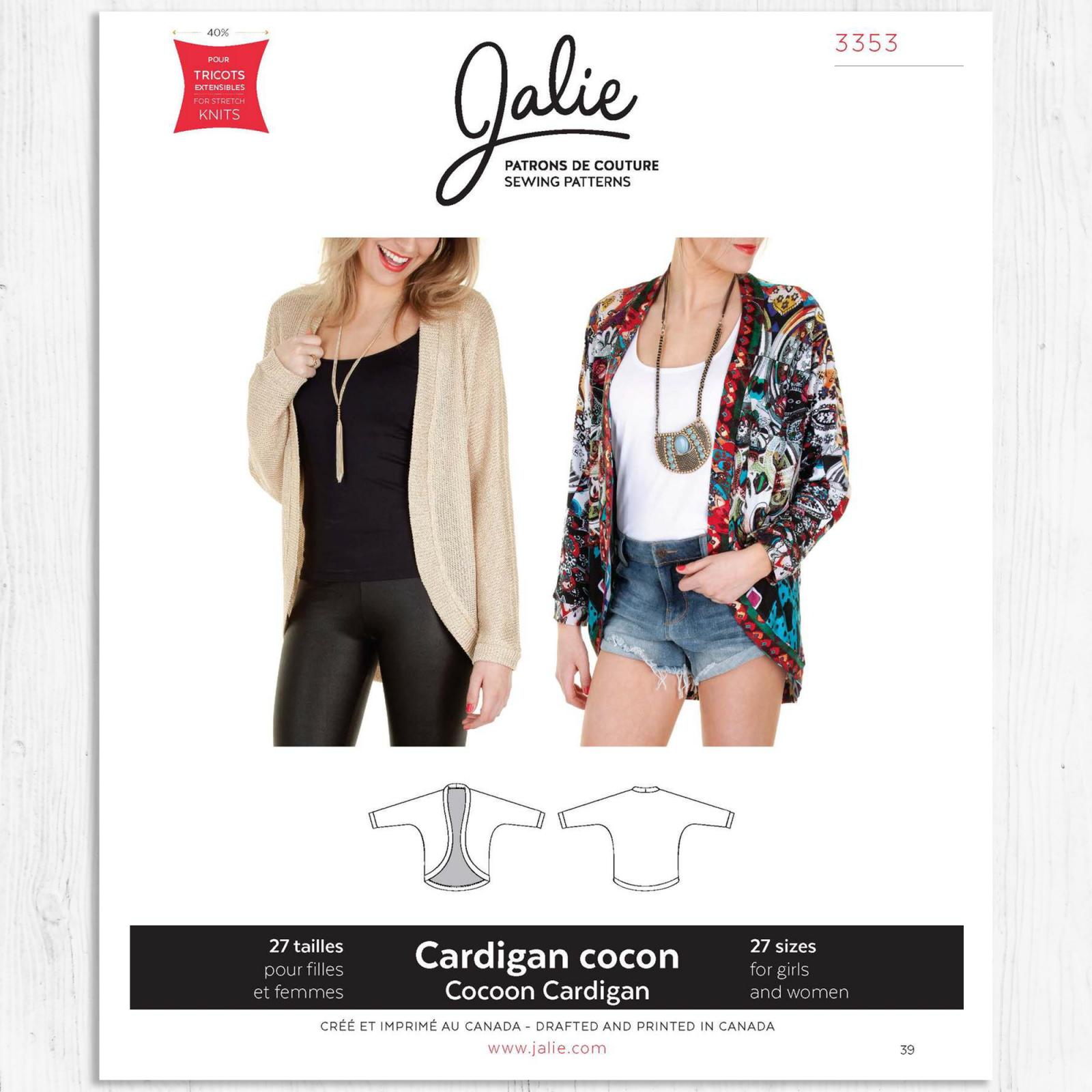 Jalie Patterns - Cocoon Cardigan