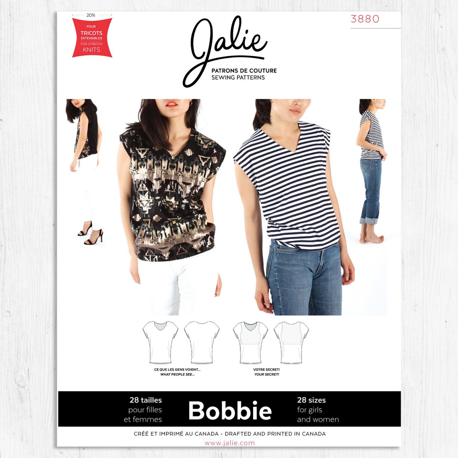 Jalie Patterns - Bobbie V-Neck Top