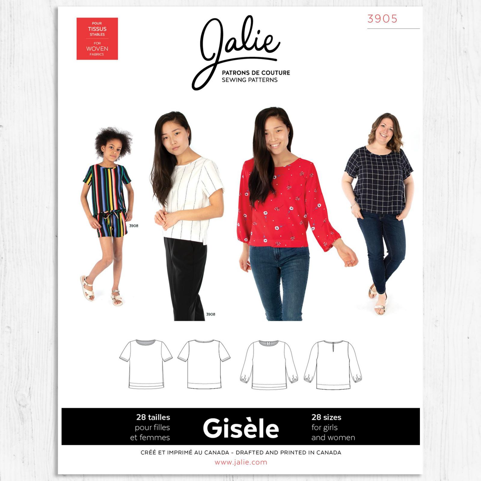 Jalie Patterns - Gisele Round Neck Blouse