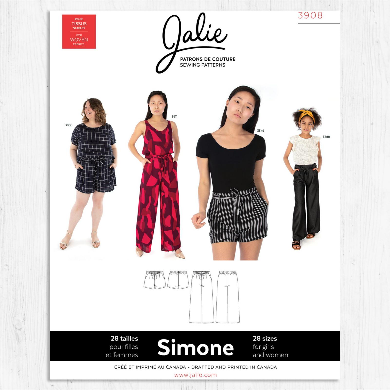 Jalie Patterns - Simone Wide-Leg Shorts and Pants