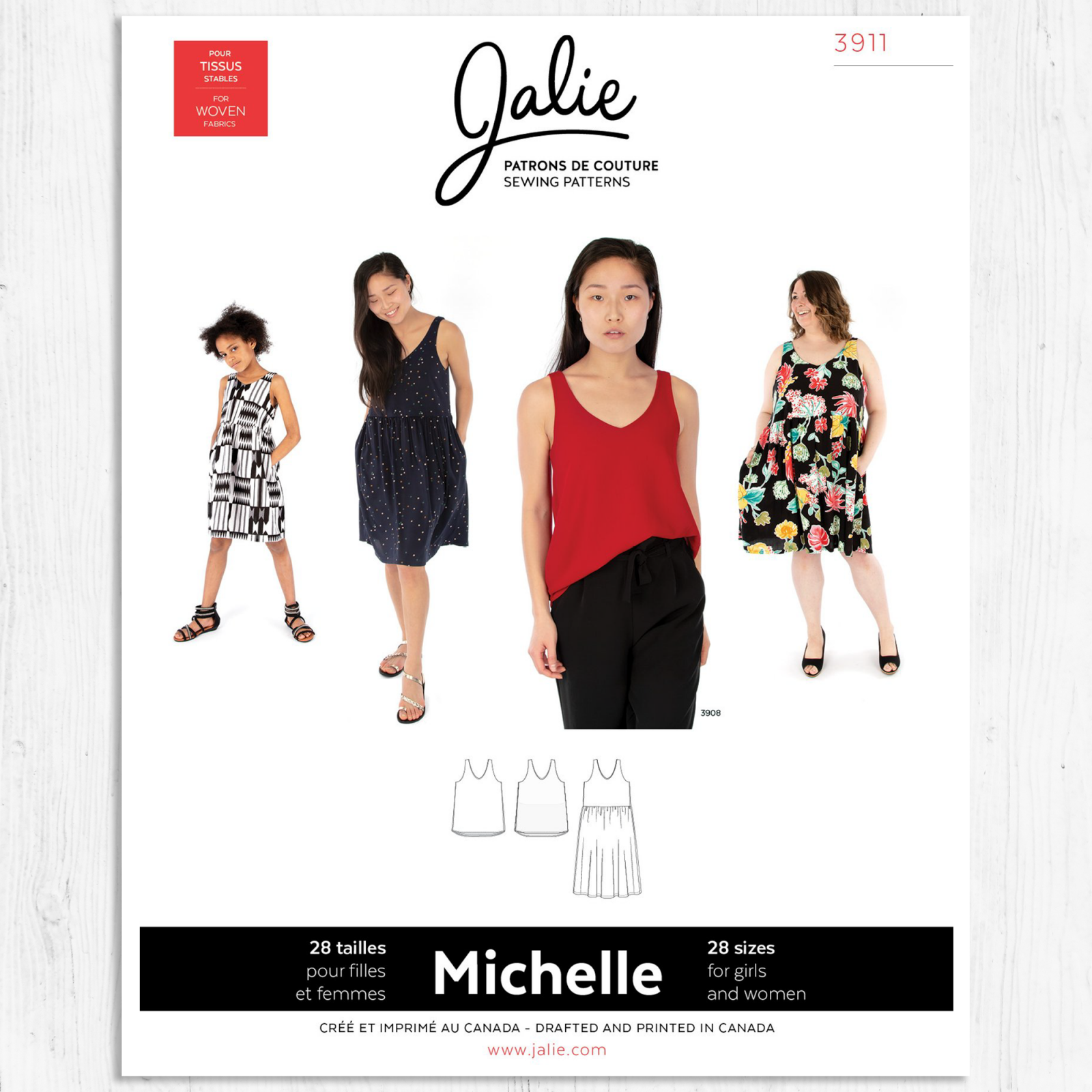 Jalie Patterns - Michelle Tank and Dress