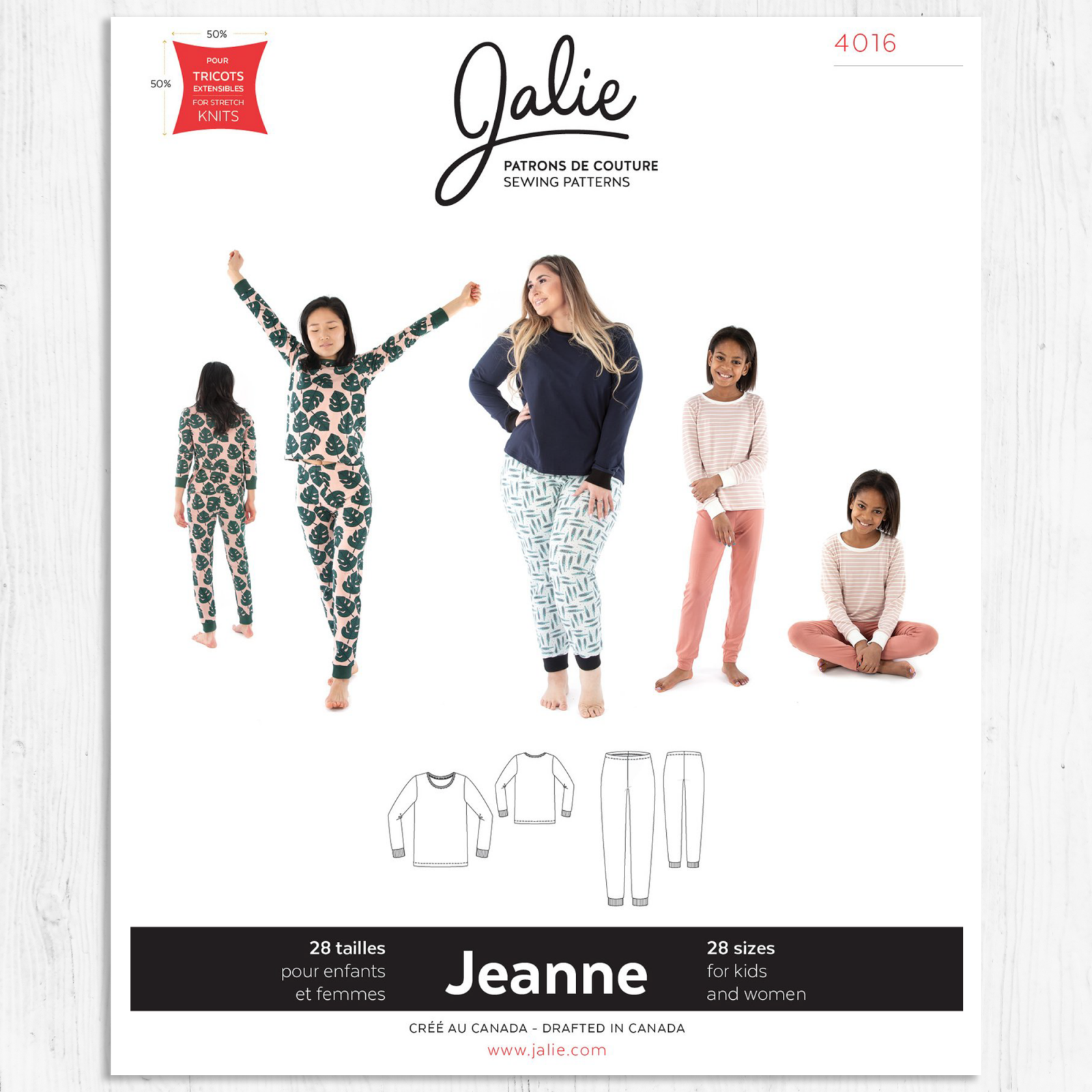 Jalie Patterns - Jeanne Knit PJ Set