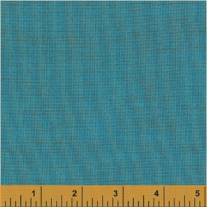 Remnant - 1/2 yd - Artisan Cotton Yarn Dyed Turquoise/Copper