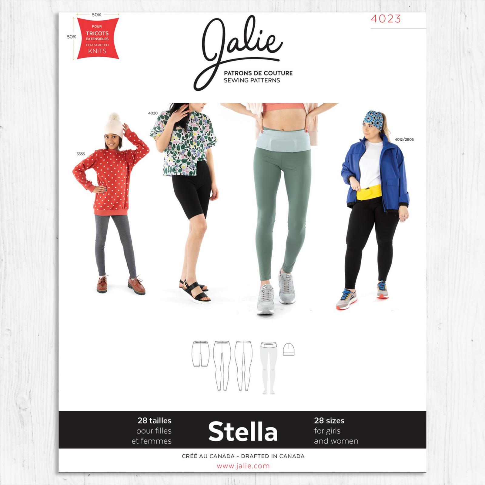 Jalie Patterns - Stella Leggings, Running Belt + Beanie