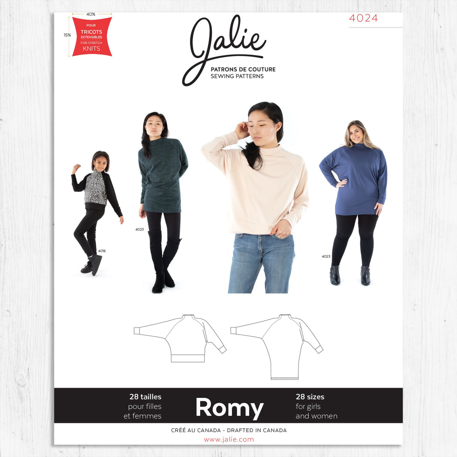 Jalie Patterns - Romy Sweater and Tunic