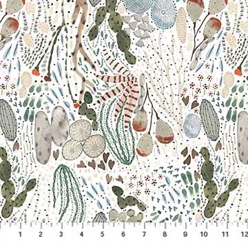 Desert Wilderness - Cacti Multi on White
