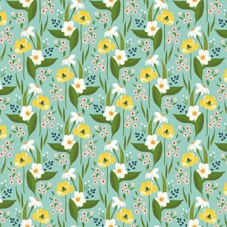 Cora - Aqua Happy Floral