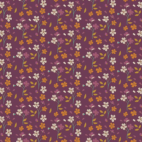 Cozy Ditzy Plum - Autumn Vibes by Maureen Cracknell