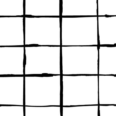 Remnant - 1/3 yd - Avalana Jersey Knit - Black + White Grid